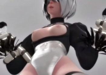 【3DCGアニメ】2Bがエロいケツで尻コキやフェラ、オナニーするエロ動画まとめ (ニーア オートマタ)