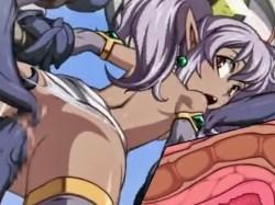 【エロアニメ】貧乳ツインテのダークエルフがモンスターに凌辱されまくる! (ダンジョンの奥2)