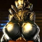 【Warframe】ムチムチの尻と巨乳を持つエイリアン女忍者と騎乗位ファックする3Dエロアニメ (SARYN)