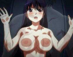 榊由美子が密室ロッカーでおっぱいとオ〇ンコを擦り付け絶頂! (グリザイアの楽園)