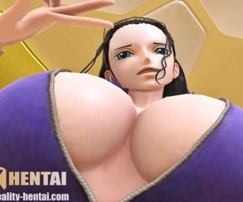 [ワンピース] ロビンが疑似騎乗位で巨乳揺らしてアヘ顔Wピース&痙攣アクメするVRエロ動画 (SFM,VR)