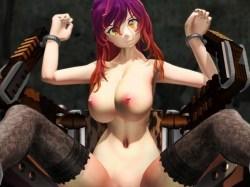 [東方MMD] 聖白蓮が研究所の拷問器具に拘束され、失禁アヘ顔アクメするまで極太ディルドで犯され続ける!!