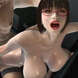 【梅麻呂3D】女の子同士でシックスナインしてるとこにオ〇ンポぶっ刺して中出し!