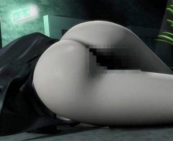 【3Dアニメ】巨乳受付嬢が変態清掃員に手錠で拘束されネットリ犯される!!