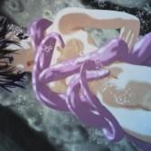 【リョナ・暴力】特務工作員のチャイナ娘が触手化物に捕まり、ハードな水中リョナ地獄!