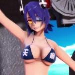 [MMD艦これ] 天龍・龍田がエロビキニでおっぱい揺らしてダンス!ポロリはあるのか!?