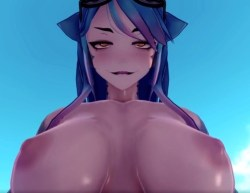 [Monster Girl Island] 爆乳&筋肉のサメ娘にフェラ奉仕→騎乗位→尻コキ!
