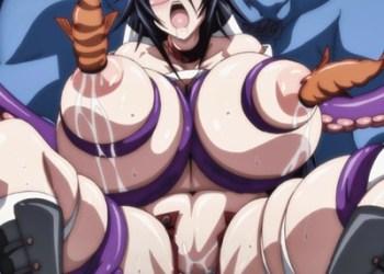 【異種姦・触手】奇乳・超乳のムッチムチ美女たちが化物のイボイボ触手で搾乳レイプされちゃう♪