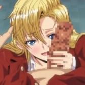 【エロアニメ】レズ女の恨みは恐ろしい…!高飛車な金髪巨乳の生徒会長が処女を奪われ輪姦レイプ!