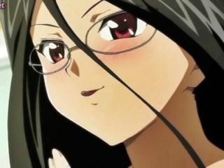 【百合・レズ】黒髪メガネJKと無口少女が双頭ディルドでレズセックス!