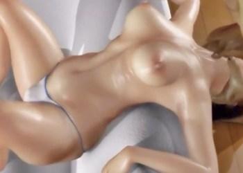 【異種姦・輪姦】エアロビのお姉さんがオークに上の口も下の口も犯されて、どろどろザーメン注ぎ込まれる!!