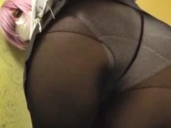 【FGO】黒タイツで着衣エロスなコスプレイヤーがマシュのエロコスでピル禁止・中出し!