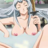 巨乳ばかりのお姉さんたちと温泉に入ったロリがおっぱいの揉み比べ!?(一騎当千)