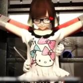 少女の四肢を拘束して機械アームでおっぱい揉んだりくすぐり拷問する動画(くすぐり動画)