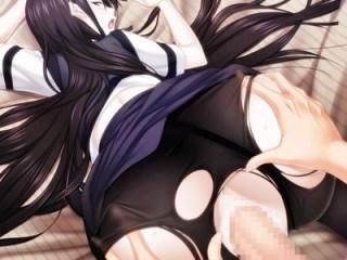 【まじこいA-5】黒髪清楚な美少女の黒パンスト破ってバックからガン突きイキまくりセックス!