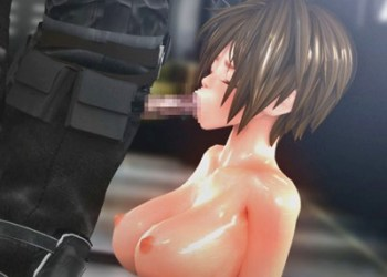 【拘束・フェラ】戦闘に負け、身動きが取れない状態の女ポリスが敵兵士に凌辱される!