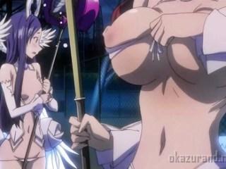 色々とお肉がはみ出てしまうエロ衣装で戦う魔法少女たち…!(絶対純白 魔法少女)