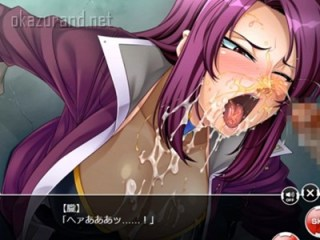 【対魔忍決戦アリーナ】甲河朧が壁穴に拘束され喉マ〇コファック!最後はザーメンとションベンをぶっかけられて.....!