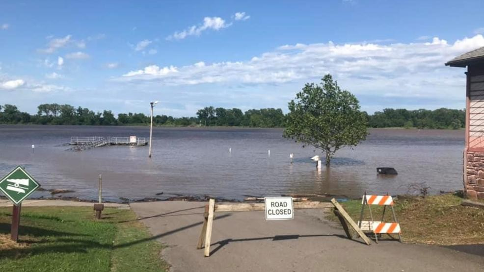 Town Of Webbers Falls Under Complete Evacuation Due To Flooding