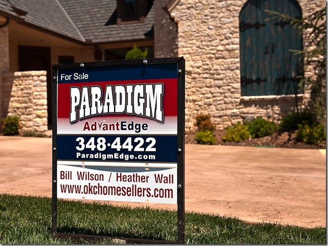 real estate property marketing plan to sell your Oklahoma City home - sign & lockbox