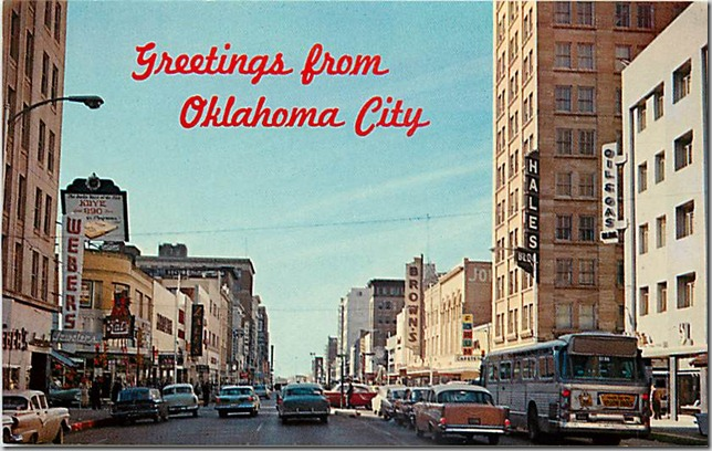 Oklahoma City Main Street 1957