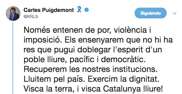 Puigdemont está cada día peor: ahora equipara en un vídeo a Rajoy con Franco y Hitler