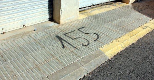 Pintadas con un 155 que ha denunciado el ayuntamiento independentista de Palau