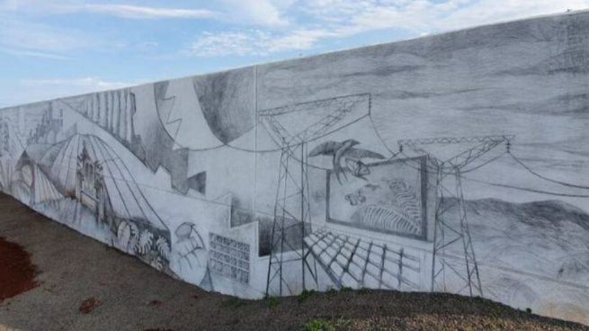 El pasado 19 dEn Posadas, Misiones, Argentina, tuvo lugar el título de récord Guinness del mural dibujado a mano.