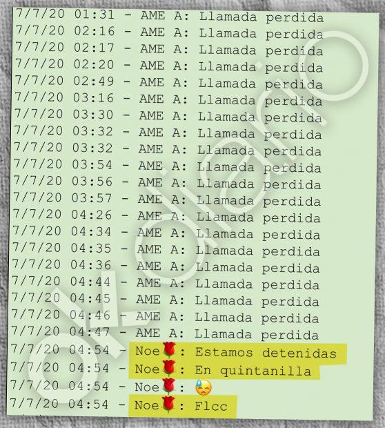 La presunta pareja de Evo Morales le avisó cuando la Policía la detuvo en la ciudad boliviana de Cochabamba.