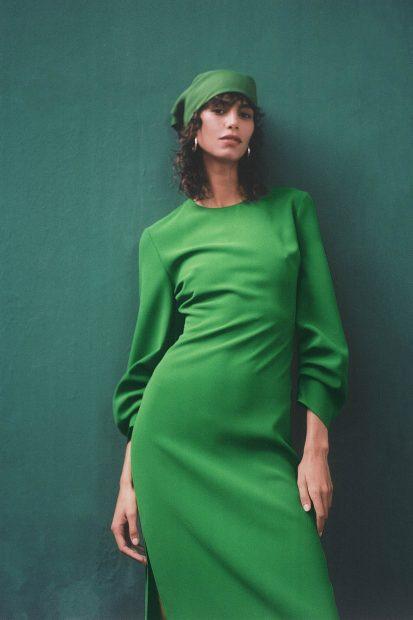 Green dress from the Zara 2020 / Zara collection