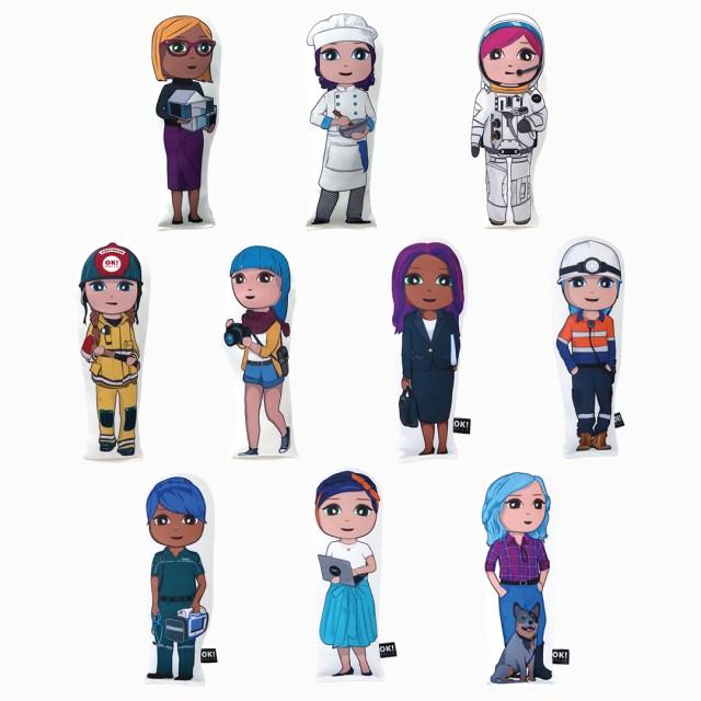 OKMini June set of 10 plush dolls