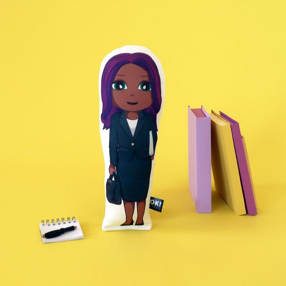 Lara Lawyer plush doll by OK!Dolls
