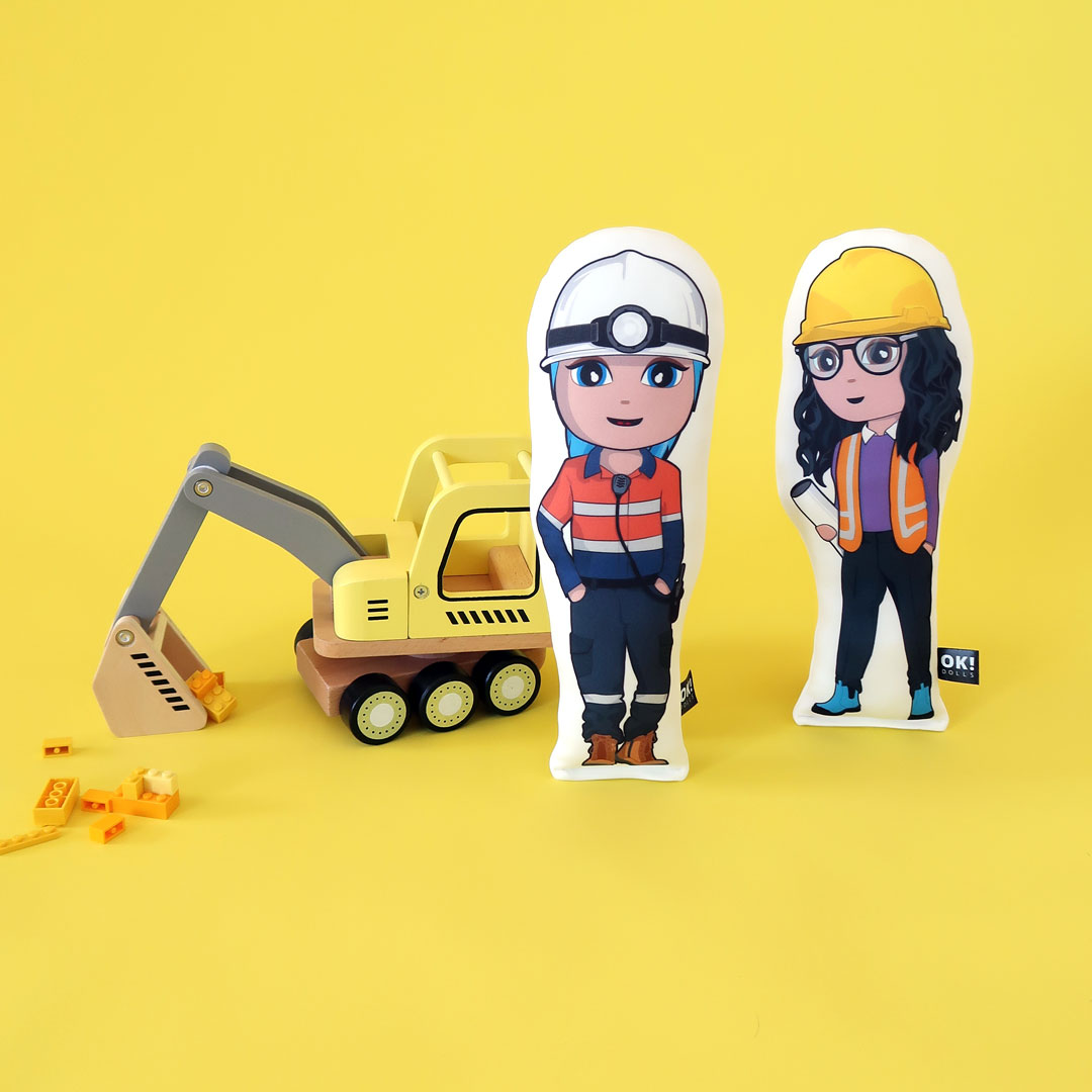 female engineer doll celebrating mining careers