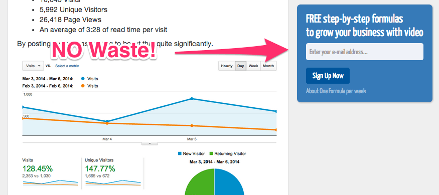 no-waste-bryan-harris list building - List Building: How to Get Your First 100 Email Subscribers