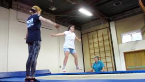 Natalie trampolining - SNAP