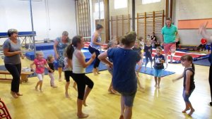 Family gymnastics at Okehampton