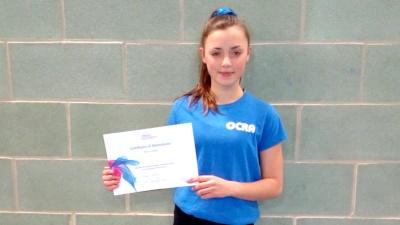 Mya Porter - coach proficiency award