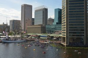 Inner harbor from the Baltimore Aquarium