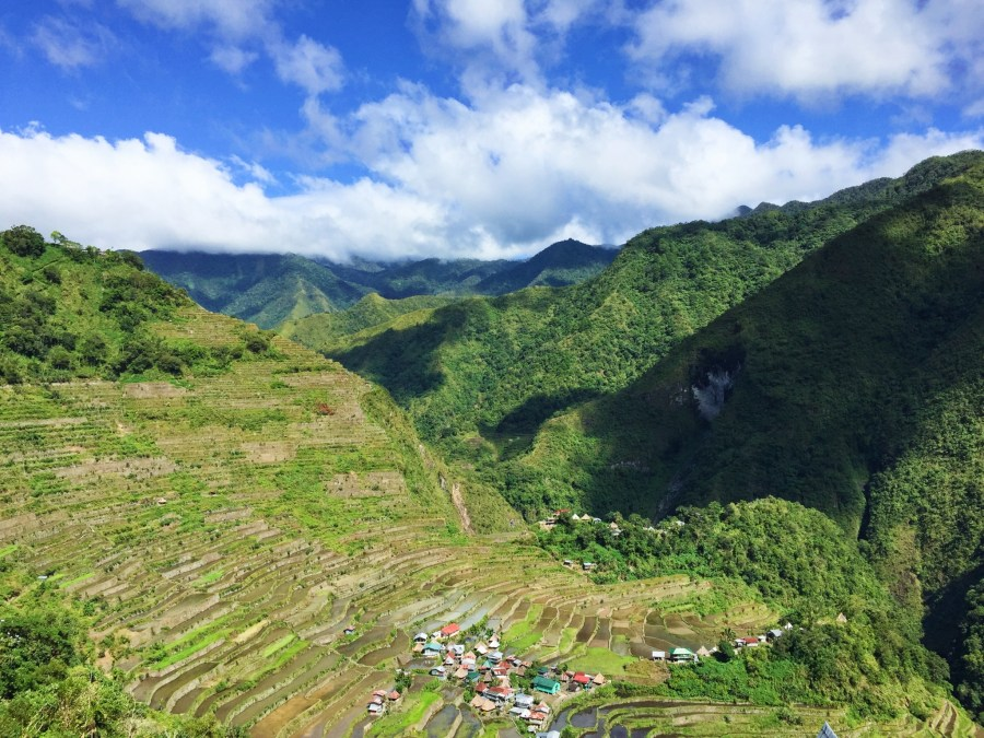 View of Batad rice terraces.