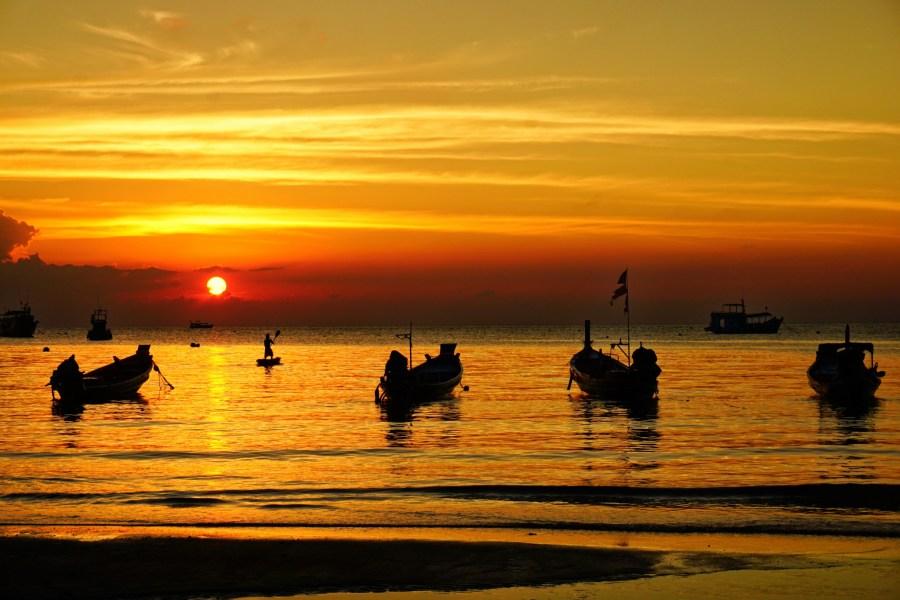 Sunset on Sairee Beach