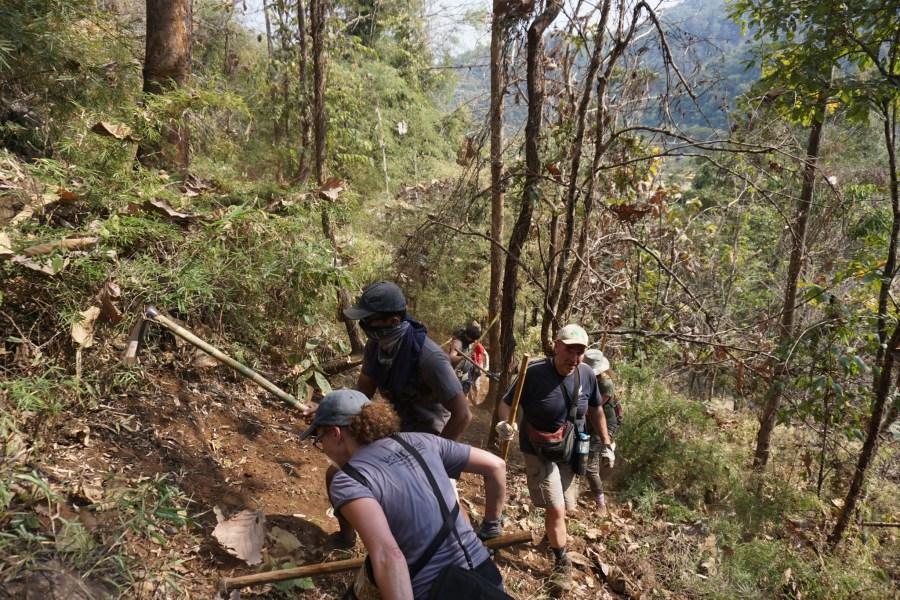 volunteers, fire break, hard work, Elephant Nature Park, Thailand