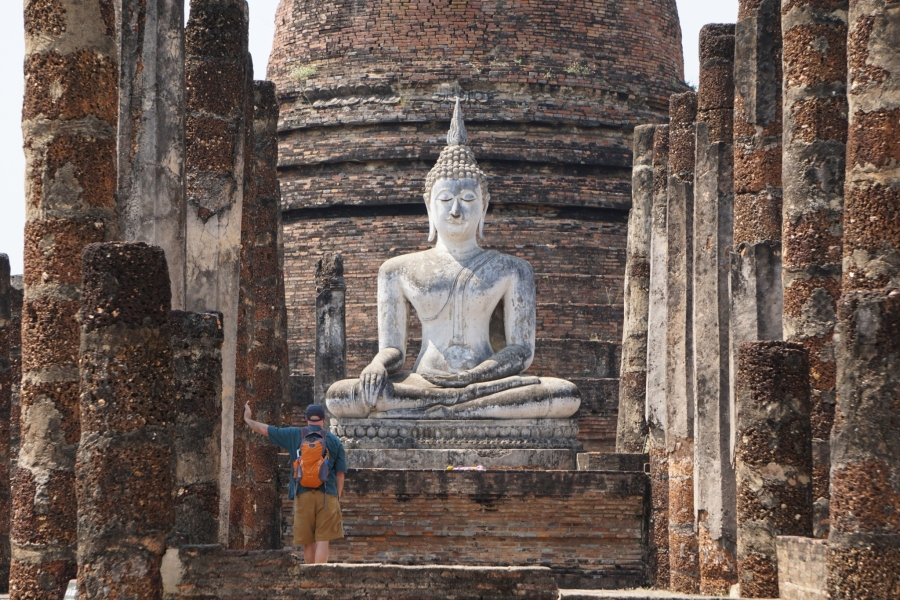 Ruins in Sukhothai, Thailand, history, backpacking, Buddhism