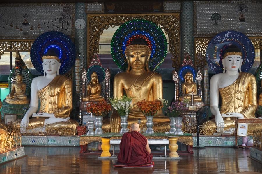 Shwedagon Pagoda, Yangon, Myanmar, ancient, temples, Buddhism