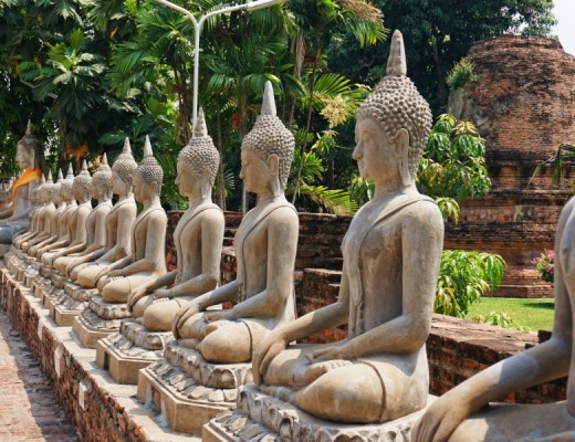 Ayutthaya has row upon rows of buddhas to photograph.
