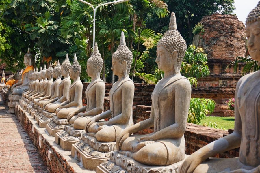 Ayutthaya has row upon rows of buddhas to photograph.
