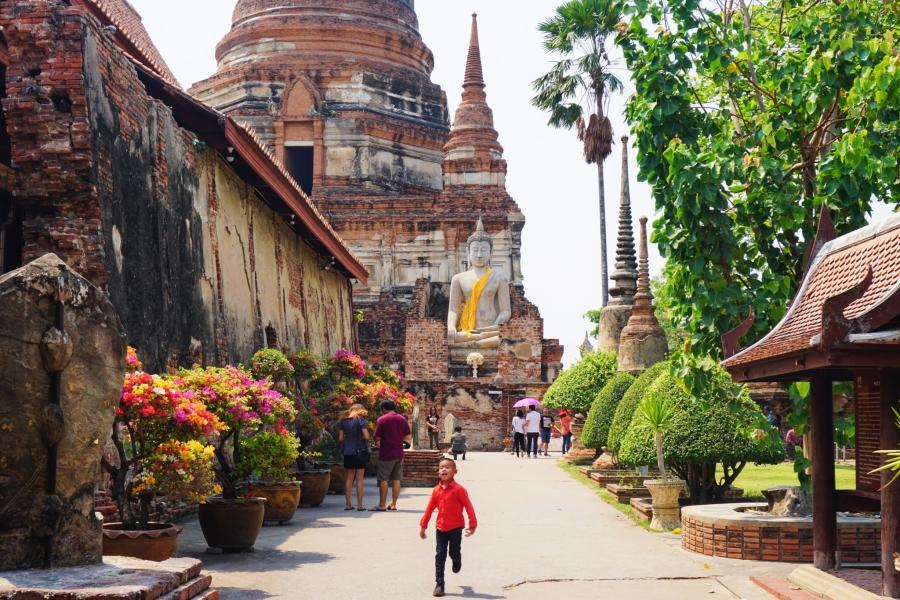 Wat Yai Chai Mongkol, Ayutthaya, Thailand, ruins, temple, culture