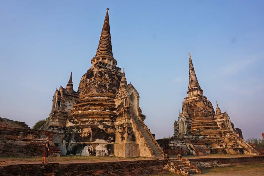 Learning about the culture of Thailand in Ayutthaya.