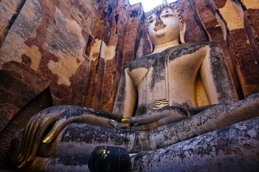 Wat Si Chum, Sukhothai, Thailand, Buddha, ancient, ruins, Southeast Asia
