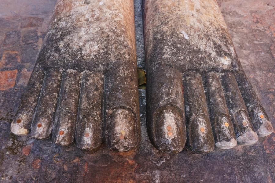 Buddha feet.