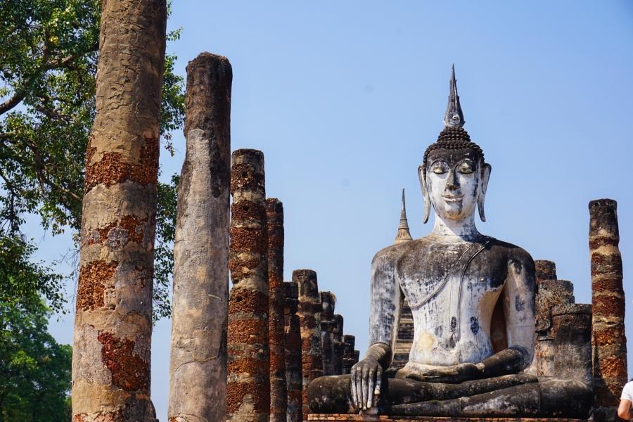 Wat Mahathat, Sukhothai, Thailand, ruins, Buddhism, ancient, Southeast Asia, Buddha, temples